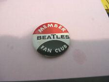 Beatles tin button pin back rare Fan Club Seltaeb1964 nice original