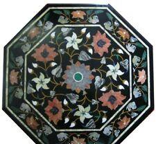 "30"" Marble center Table Top semi precious multi stones inlay Art handicraft"