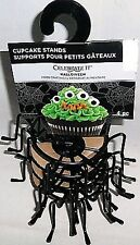 Celebrate It Cupcake Stands - Halloween Spiders - set of 4 metal - brand new!
