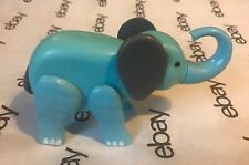 """Vintage Fisher Price Circus Train Blue Elephant 5"""" Toy - Hong Kong 1973"""