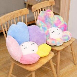 Colorful Sunflower Plush Seat Cushion Stuffed Rainbow Chair Cushions Kids Gift