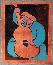 """MICHEAL JONES """"Lady with a Cello"""" early original hand-signed MONOPRINT  AWESOME!"""