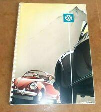 RARE vintage Belgian dealer brochure - VOLKSWAGEN VW BEETLE COCCINELLE - 50s