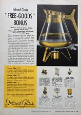 1958 AD(F27)~INLAND GLASS WORKS, LAGRANGE PARK, ILL. COFFEE MAKER