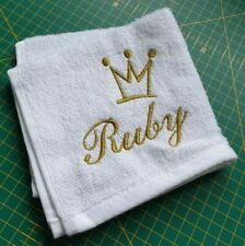 Personalised Face Cloth Towel Name Wedding Anniversary Gift Present Birthday 👑