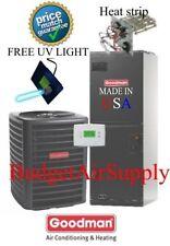 2 ton 14 SEER HEAT PUMP 410a Goodman System GSZ140241+ARUF25B14 +UV LIGHT KIT