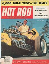 1958 July Hot Rod Magazine Back Issue - 6,000 Mile Test in a '58 Olds