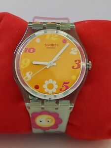 """Swatch """"Bloomy"""" 34mm GL115 Watch, 2006, Original papers Cute Working collector"""