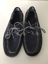 Ecco Suede Blue Moccasin Men Shoes Size Us 11.5 Eur Size 46