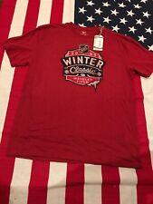 REEBOK T Shirt Chicago Blackhawks NHL Winter Classic Wrigley Field 2009 Cubs