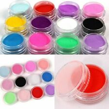 Set of 12 Jars of Different Colors of Acrylic Nail Powder Manicure Accessories