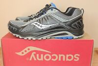 NEW MENS SAUCONY GRID EXCURSION TR9 TRAIL RUNNING SHOES SNEAKERS GREY US 9 42.5