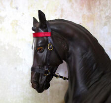 Gaited Style Show Halter (Red Band) for 1:9 (Breyer Traditional) Model Horses