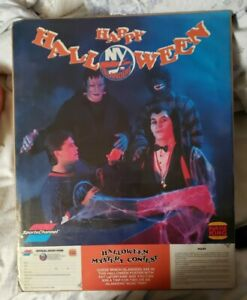 RARE 1989 Burger King NY Islanders Happy Halloween Contest Poster Sports Channel