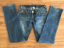 True Religion Boot cut GOLD Stitching Jeans Size 26 X 32