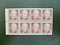 USA 1971 $.08 #1395A Eisenhower Booklet Pane of 8 MNH - See Images & Description