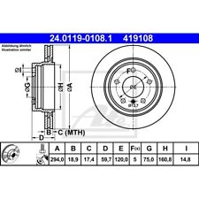 ORIGINAL ATE Bremsscheiben Satz hinten BMW 3er E46 ua. Bj.98-
