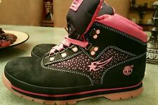 TIMBERLAND WOMENS SZ 6 BLACK PINK BOOTS