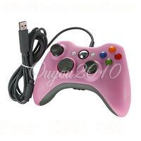 Pink USB Wired Gamepad Controller For MICROSOFT Xbox 360 & Slim PC Windows 7 UK