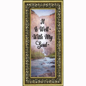 **NEW** It is Well with My Soul, Hymn Art, Religious Picture Frame, 10x10 6403