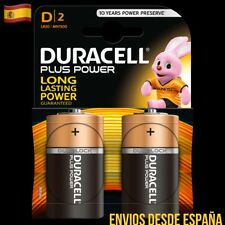 2 Pilas DURACELL Plus Power D LR20 MN1300 Batería Alkalina Long Lasting Power