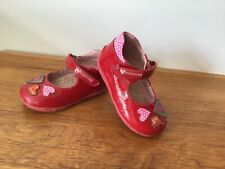 Girls Infant Prada Red Patent Shoes Size U.K 7.     EUR 24 Good Condition