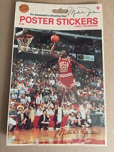 "NIP MICHAEL JORDAN Tongue  Chicago Bulls POSTER STICKER 1988 Jump Inc. 5""x6"""