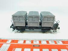 AV130-0,5# Trix Express H0/DC 458 (?) Vagón transporte contenedores de Casa a DB