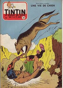 TINTIN 1956 n° 30 couv  et inedit Reding RINTINTIN