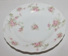 "Elite Works Limoges France Porcelain Serving Bowl - Pink Flowers - 9 1/4"" - EUC"