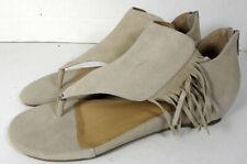 Adam Tucker By Me Too Womens Adina Fringe Sandal Shoes, Beige, US 9.5
