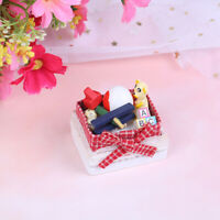 1:12 Dollhouse miniature bear toy box model toys for doll house decorationDE