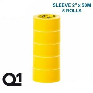 "Q1 Premium Automotive Masking Tape 2""( 48mm x 50M) 5 Rolls Per Sleeve Yellow"