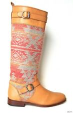 new $450 CANDELA 'Asher Navajo' tan leather tall Boots Spain 6 - amazing