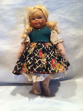 """Collectible Old Antique Doll W/Composition Head & Stuffed Body Fair Condition 8"""""""