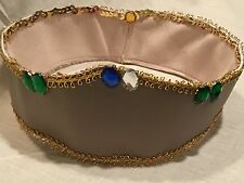 Reversible Medieval Ladies Renaissance Vinyl Maiden-Queen-Princess-Cos tume Hat