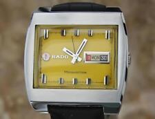 Rado Manhattan Mens Jumbo 38mm Rare Vintage 1970s Automatic Swiss Watch NS54