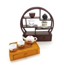 Re-ment Asian Shop #2 - Miniature Chinese Tea set with shelf
