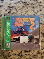 Destruction Derby 2 Greatest Hits Playstation PS1 Video Game Complete FREE SHIP