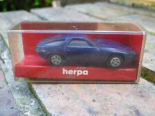 HERPA HO 1:87 PORSCHE 928 bleu, neuf en boite