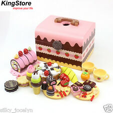 Mother Garden Afternoon Tea Chocolate Cake Pretend Role Play Kitchen Wooden Toy