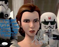 JULIE DOLAN Signed PRINCESS LEIA Star Wars REBELS 8x10 Photo Autograph JSA COA