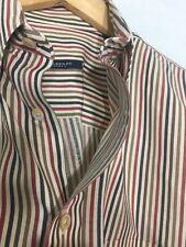 Burberry London L Large Men's Nova Plaid Striped USA Button Front L/S Shirt