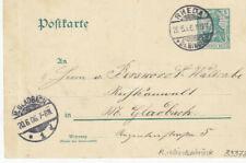 Reich Brief / Ganzsache - Germania : Rheda 20.06.1906
