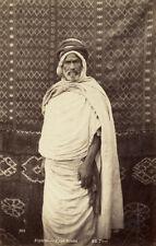 Photo Neurdein Albuminé Portrait Type Arabe Algérie Vers 1880