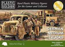 15mm GERMAN MEDIUM TRUCKS OPEL BLITZ - PLASTIC SOLDIER COMPANY PSC - WW2 -