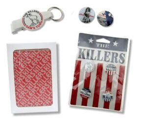 The Killers 8 Piece Buttons Bottle Opener Keychain Cards Gift Set New Official