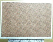"OO/HO gauge (1:76 scale) ""multi-colour brick with age"" -  paper - A4 sheet"