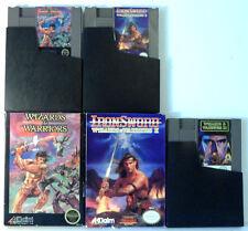 Wizards & Warriors w/Box + II: IronSword w/Box + Wizards & Warriors III  - NES