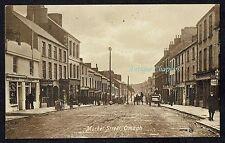 c.1910 Market Street Omagh County Tyrone Northern Ireland Postcard B20